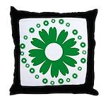 Sunflowers green Throw Pillow