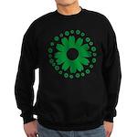 Sunflowers green Sweatshirt (dark)