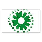 Sunflowers green Rectangle Sticker 50 pk)