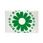 Sunflowers green Rectangle Magnet (100 pack)