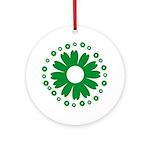 Sunflowers green Ornament (Round)