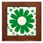 Sunflowers green Framed Tile