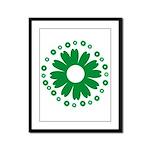Sunflowers green Framed Panel Print