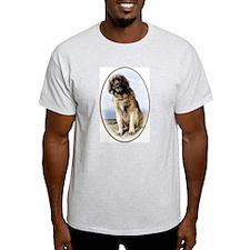 leonberger on beach Ash Grey T-Shirt