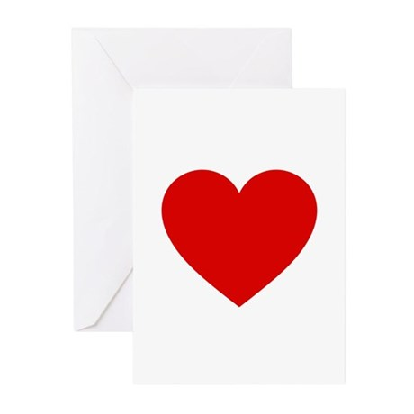 Red Heart Greeting Cards (Pk of 20)