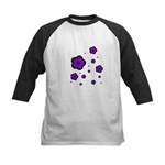 purple Kids Baseball Jersey