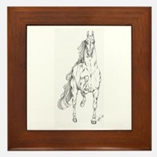 Unique American saddlebred Framed Tile