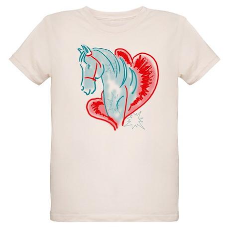 blue horse Organic Kids T-Shirt