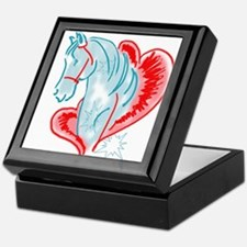 blue horse Keepsake Box