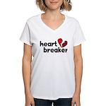 Heart Breaker Women's V-Neck T-Shirt