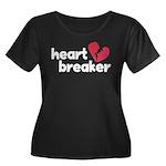 Heart Breaker Women's Plus Size Scoop Neck Dark T-