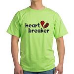Heart Breaker Green T-Shirt