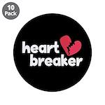 "Heart Breaker 3.5"" Button (10 pack)"
