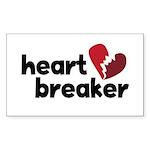 Heart Breaker Rectangle Sticker 10 pk)