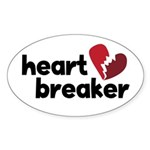 Heart Breaker Oval Sticker (10 pk)