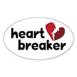 Heart Breaker Oval Sticker (50 pk)