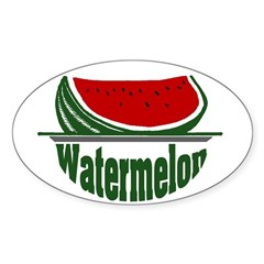 Watermelon Oval Decal