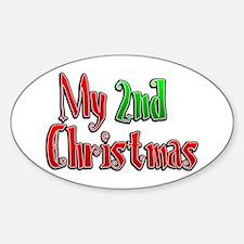 My 2nd Christmas Oval Decal