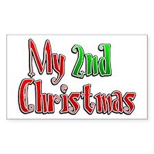 My 2nd Christmas Rectangle Decal