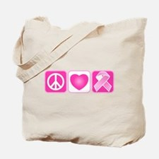 Peace, Love, Hope Tote Bag