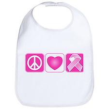 Peace, Love, Hope Bib