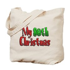 My 80th Christmas Tote Bag