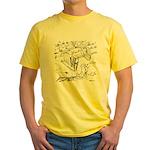 Sky Roller Pigeons Yellow T-Shirt