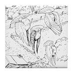 Sky Roller Pigeons Tile Coaster