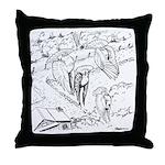 Sky Roller Pigeons Throw Pillow