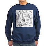 Sky Roller Pigeons Sweatshirt (dark)