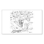 Sky Roller Pigeons Rectangle Sticker 50 pk)