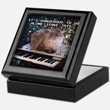Cat On A Keyboard In Space Keepsake Box