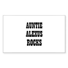AUNTIE ALEXUS ROCKS Rectangle Decal