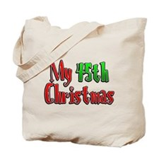 My 45th Christmas Tote Bag
