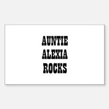AUNTIE ALEXIA ROCKS Rectangle Decal