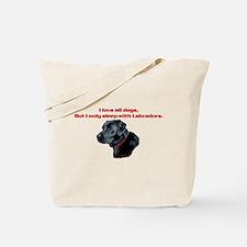 Sleep with Labradors Tote Bag