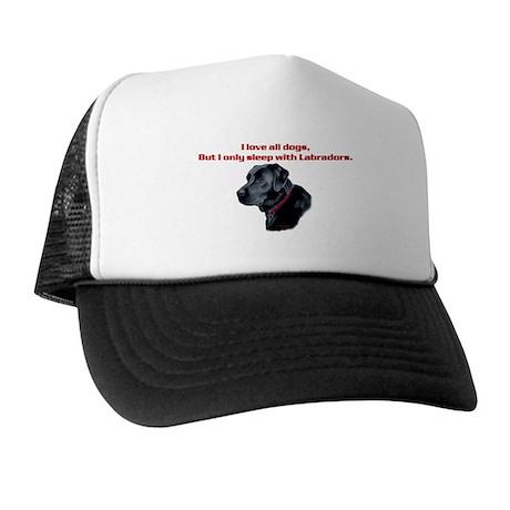 Sleep with Labradors Trucker Hat