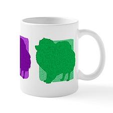 Color Row Pomeranian Mug