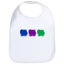Color Row Pomeranian Bib