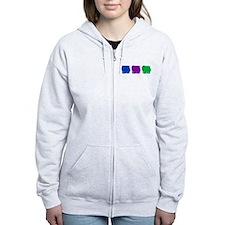 Color Row Pomeranian Zip Hoodie