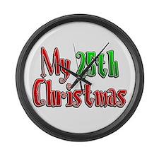 My 25th Christmas Large Wall Clock