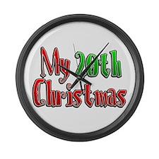 My 20th Christmas Large Wall Clock