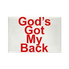 God's got my back Rectangle Magnet