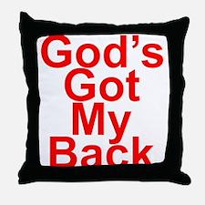 God's got my back Throw Pillow