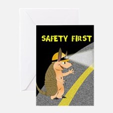 Armadillo Safety First Greeting Card