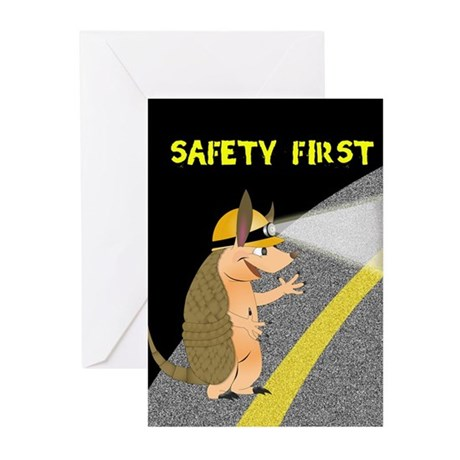 Armadillo Safety First Greeting Cards (Pk of 10)