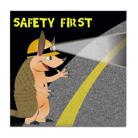 Armadillo Safety First Tile Coaster