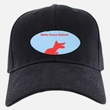 Dinosaur Make Cancer Extinct Black Cap / Hat pink