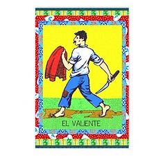 Vintage Loteria Valiente Postcards (package Of 8)