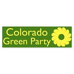 Colorado Green Party bumper sticker